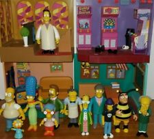 The Simpsons World Of Springfield Lot of (4) environments (12) loose figures