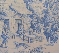 Textiles français Toile de Jouy Fabric (Blue)