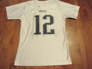 Tom Brady New England Patriots NFL Apparel Jersey Girls Large (14-16) #12
