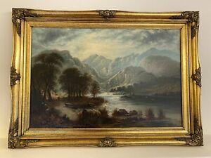 Harry Williams 1854-1898, Oil on Canvas, Scottish Highlands, RARE, 110x80cm