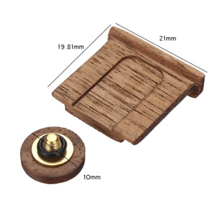 Wooden Wood Shutter Release Button Hot Shoe Cover Set For Fuji  X Series Camera