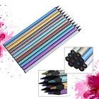 12Pcs Metallic Non-toxic Colored Drawing Pencils 12 Color Drawing Sketching Gift