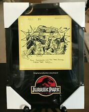 Jurassic Park Original Production Storyboard Explorer Framed COA NO RESERVE
