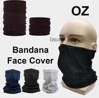 BANDANA Plain Bandana Head Wrap Summer Scarf snood Face Mask Cover Black