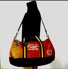 Polo Ralph Lauren RL 1967 Football Orange Canvas Duffle Bag Pwing Stadium $250