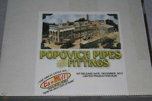 "Bar Mills POPOVICH PIPES & FITTINGS Craftsman KIT (HO-Scale) NIB ""Limited Run"""
