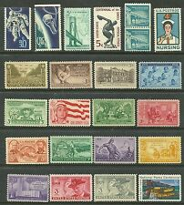 US # 998 - 3¢ Confede #1331 - 5¢ Astronaut, # 934 - 3¢ Army, # 935 - 3¢ Navy MNH