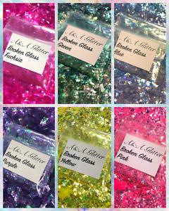 Nail Art Mix (Broken Glass Set) Glitter 5g Bag Mylar Ice