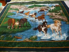 "Wild horses cotton printed panel-Springs Industries 35"" x 45"""