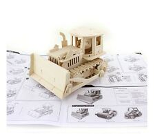 Remote Control Bull Dozer Woodcraft Construction Kit Wooden Model Craft Puzzle