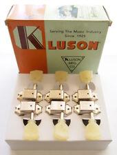 Genuine Kluson 3 per side Tuners / Machine Heads - Nickel (for Gibson)