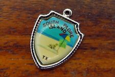 Vintage sterling silver SOUTH PADRE ISLAND TEXAS STATE TRAVEL SHIELD charm #E34