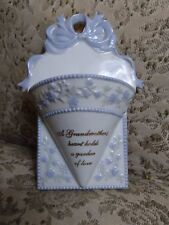 Floral Table Pocket Picture Table Or Wall Vase Grandmother Gift 5 x 7 Inch