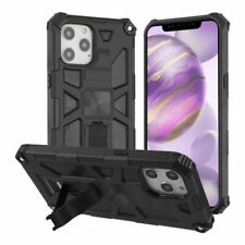 """For Apple iPhone 12 Pro Max (6.7"""") Black Sturdy Candy Hard TPU Hybrid Case Cover"""