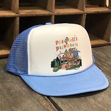 Pee Wee's Playhouse Vintage 80's Style Trucker Hat Pee-Wee Herman Snapback Blue