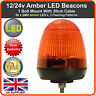 LED BEACON 1 Bolt 12/24v Recovery Flashing Warning Strobe Lights lightbar Amber