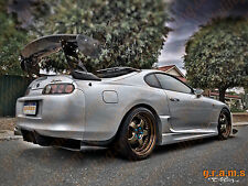 Toyota Supra mk4 Diffuser Brackets Included Top Secret Style for Racing v6