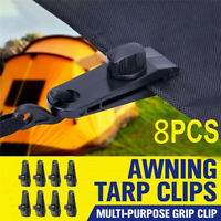 8pcs Tent Clips Outdoor Tent Fixed Clip Tarp Clips Lock Grip Awning Clamp Set