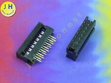 Stk.2x IDC 14 (2x7) polig/way PCB - für Flachbandkabel / Ribbon 2.54mm #A907