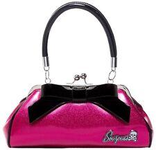 Sourpuss Floozy Purse Pink Glitter Limited Edition Pin Up Retro Vintage Bettie