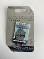 Galaxies Edge Annual Passholder 2019 Cleared For Landing Disney Pin LE (B)