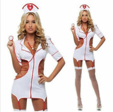 New Women Halloween Outfit Fancy Dress Set Sexy Lingerie Nurse Costume Adult