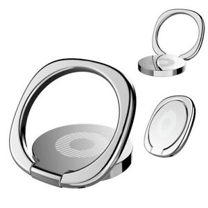 2x Finger Ring Cell Phone Holder Stand Metal Plate Rotating Magnetic Grip 360°