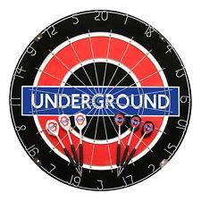 London Underground Winmau Dart Board with 2 Dart Sets