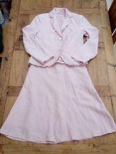 Kostüm Blazer Rock von S.OLIVER Gr. S 36 38 40 rose rosa Leinen Zweiteiler