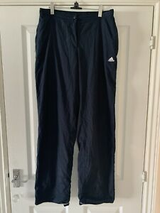 Ladies Adidas Navy Blue Tracksuit Bottoms Size 16L