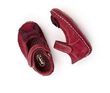 Kickers Baby Bowbar Infants Red Suede Shoes Size 18
