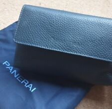 OFFICINE PANERAI OEM BLUE PEBBLE LEATHER BAG NEW WITH DUST POUCH PAM03990