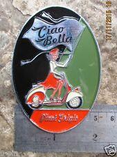 VESPA LAMBRETTA CIAO BELLA RALLY VINTAGE Plakette FARO PLACCA GRIGIO