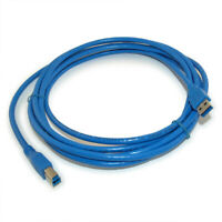 10ft USB 3.2 Gen 1 SUPERSPEED 5Gbps Type A Male to B Male Cable