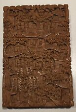 19th century Chinese Cantonese carved sandalwood card case. c1880