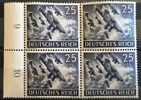 Germany (Third Reich) 1943 block of 4 - Mi 839-Sc B226- MNH