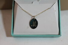 """""""M"""" LETTER GRAPHIC 18"""" NECKLACE AND MWS 925 STERLING SILVER PENDANT NEW IN BOX!"""