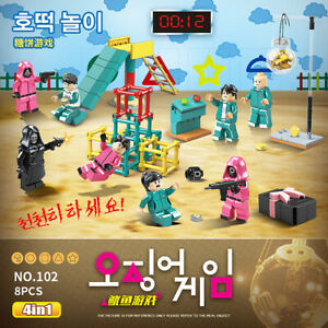 SQUID GAME Lot Figures Dalgona Candy Game 4PCS/SET Toys Gifts