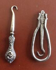 Pair Of Antique Button Hooks