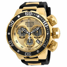 Invicta 21641Reserve Chronograph Gold Dial & Tone  Polyurethane Strap 500 Meter