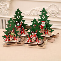 Christmas Hanging Ornaments DIY Xmas Tree Wooden Pendants Home Party Decor
