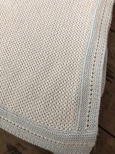 Absorba Blue Knit Baby Blanket