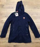 Under Armour UA Minnesota Twins Coldgear Storm1 Zip Jacket Hoodie Womens SZ S