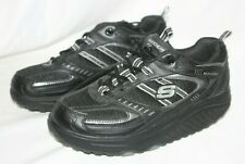 Skechers Shape Ups Walking Athletic Toning Sneaker Shoe  Black Silver Size 8.5