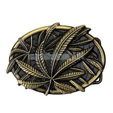Western Hot Sale Women Men Belt Buckle with Novelty Floral Exquisite Leaf