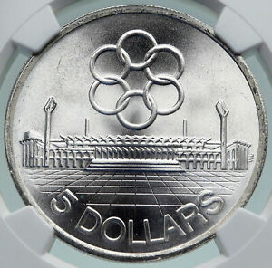 1973 SINGAPORE Southeast Asia Games SEAP Old Silver $10 CHINESE Coin NGC i86675