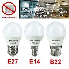 60W/40W/25W LED Round Golf Light Bulbs SES Small Screw E14/B22/E27 Bulb 7w/5w/3w