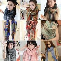 Gift Fashion Trendy Bohemian Long Print Scarf Wrap Ladies Shawl Large Scarf