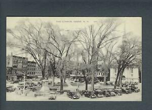 """VEGAS - Posted 1943 Keene, NH - """"The Common"""" Postcard - FE455"""