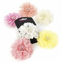 "Pastel Lilac Tone Flower Hair Beak Clip Slide Fascinator 8cm (3.1"") Accessories"